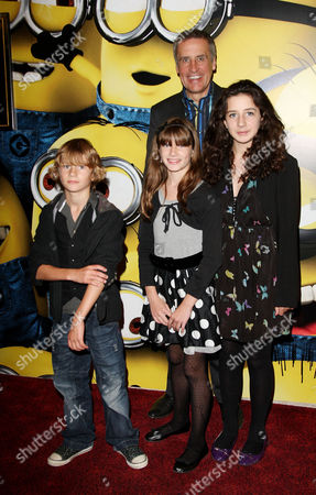 Uk Premiere of 'Despicable Me' at the Empire Leicester Square Dermot Murnaghan with His Children