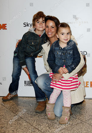Uk Premiere of 'Despicable Me' at the Empire Leicester Square Andrea Mclean with Her Daughter Amy and Son Finlay John
