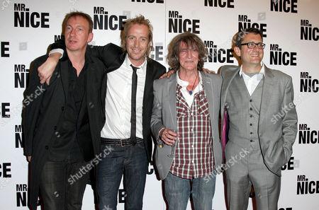 Uk Premiere of 'Mr Nice' at the Cineworld Haymarket David Thewlis Rhys Ifans Howard Marks and the Director Bernard Rose