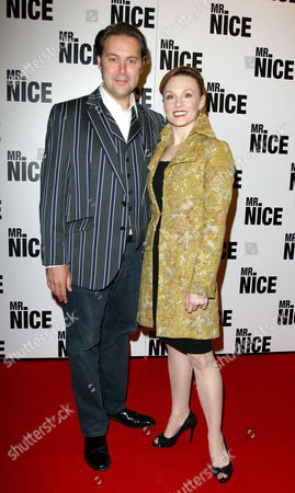 Uk Premiere of 'Mr Nice' at the Cineworld Haymarket Christian Mckay with His Wife Emily Allen