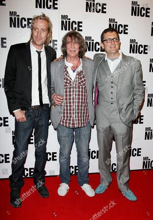 Uk Premiere of 'Mr Nice' at the Cineworld Haymarket Rhys Ifans Howard Marks and the Director Bernard Rose