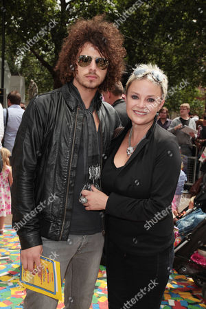 Uk Premiere of 'Toy Story 3' at the Empire Leicester Square Gail Porter with Her Boyfriend Jonny Davies