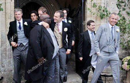 Wedding at the Church of St Peter and St Paul Northleach Cheltenham Zac Goldsmith Mp Ade Ben Goldsmith and Piers Adam