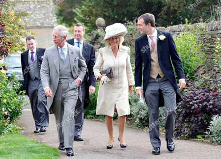 Wedding at the Church of St Peter and St Paul Northleach Cheltenham Prince Charles Duke of Wales with His Wife Camilla Duchess of Cornwall and Ben Goldsmith