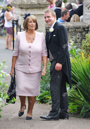Wedding at the Church of St Peter and St Paul Northleach Cheltenham Lady Annabel Goldsmith