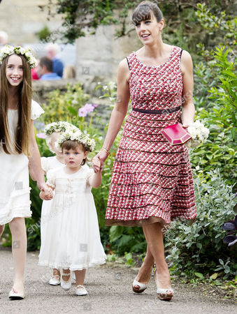 Wedding at the Church of St Peter and St Paul Northleach Cheltenham Alice Elliot with Her Daughter Violet Irwin