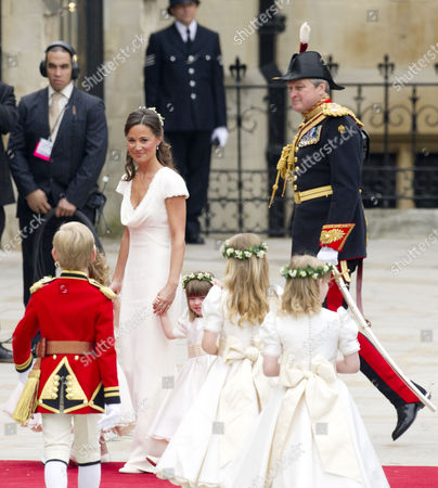 Wedding of William Prince of Wales to Catherine Middleton at Westminster Abbey Pippa Middleton with Eliza Lopes