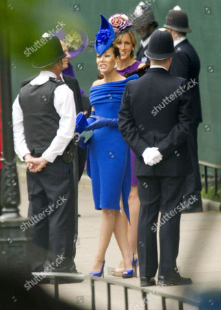 Wedding of William Prince of Wales to Kate Middleton at Westminster Abbey Tara Palmer Tomkinson with Her Sister Santa