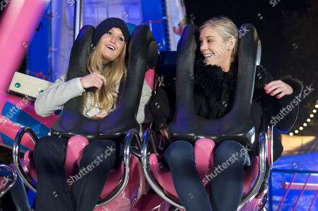 Winter Wonderland Vip Night at Hyde Park Lady Melissa Percy and Chelsy Davy On the Fairground Rides