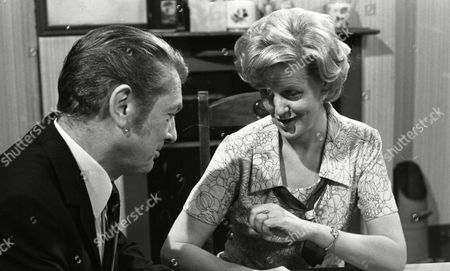 Eric Lander (as Ron Cooke) and Irene Sutcliffe (as Maggie Clegg) (Episode 1402 24th June 1974).