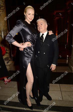 Gwendoline Christie and Tim Blanks