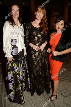 Stock Picture of Brita Fernandez Schmidt, Florence Welch and Lynsey Addario