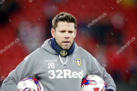 Leeds United coach James Beattie during the pre-match warm-up ahead of  the EFL Cup Quarter Final between Liverpool and Leeds United played at Anfield, Liverpool on 29th November 2016