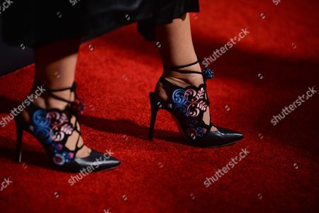 Stock Picture of Isa Tapia, shoe detail