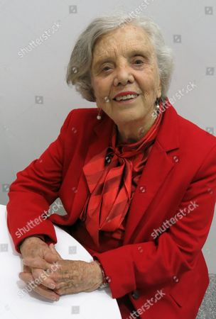 """Elena Poniatowska poses for a portrait during the Guadalajara International Book Fair. Poniatowska presented """"Las indomitas,"""" a collection of essays about women who fought for freedom in Mexico during the 20th century"""