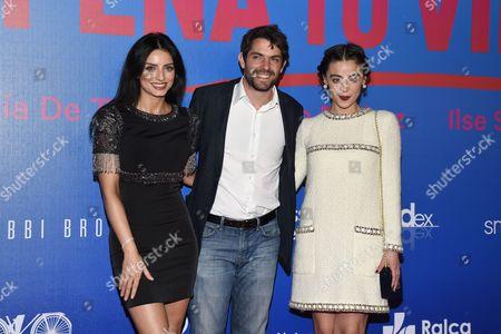 Stock Picture of Aislinn Derbez, Jose Maria de Tavira and Ilse Salas