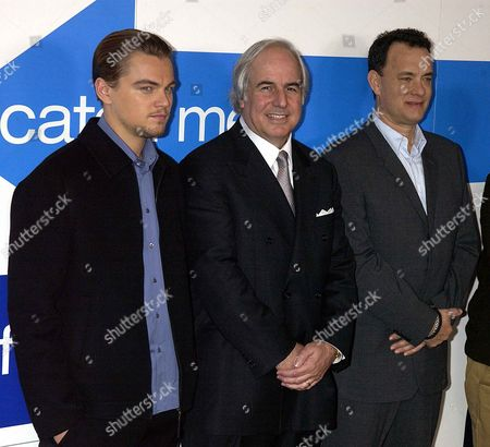 Photocall at the Dorchester Hotel London For the Film Catch Me if You Can Starring Tom Hanks & Leonardo Dicaprio Directed by Stephen Spielberg Also at the Photocall Frank W Abagnale On Whom Leonardos Character is Based
