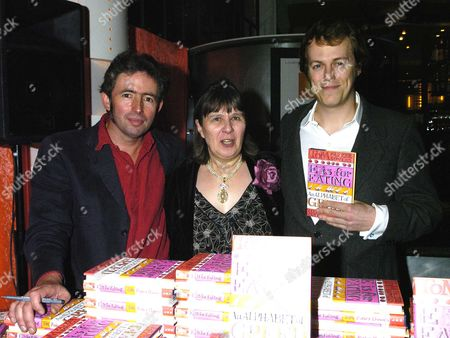 Launch Party of 'E is For Eating' at Kensington Place Tom Parker Bowles(r) with Matthew Rice (l) the Illustrator & the Publisher Susan Hill (c)
