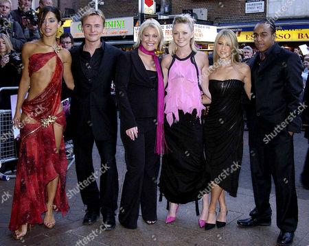 'Seeing Double' Gala Celebrity Premiere at the Warner Westend S Club 7 - Tina Barrett Jon Lee Jo O'meara Hannah Spearritt Rachel Stevens and Bradley Mcintosh