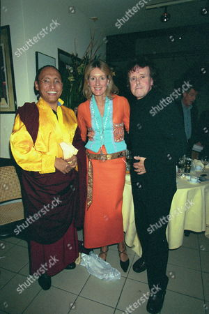 Dinner at San Lorenzo For 'The Ladakh School Project' Lady Cowdery with Donovan & His Holyness the 12th Gyalwang Drukpa