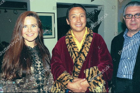 Dinner at San Lorenzo For 'The Ladakh School Project' Koo Stark with His Holyness the 12th Gyalwang Drukpa