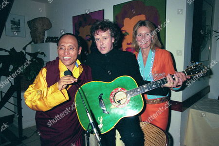 Dinner at San Lorenzo For 'The Ladakh School Project' His Holyness the 12th Gyalwang Drukpa with Donovan & Lady Marina Cowdery