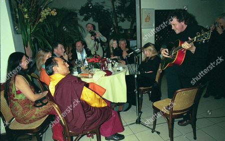 Dinner at San Lorenzo For 'The Ladakh School Project ' His Holyness the 12th Gyalwang Drukpa with Donovan & Lady Cowdery