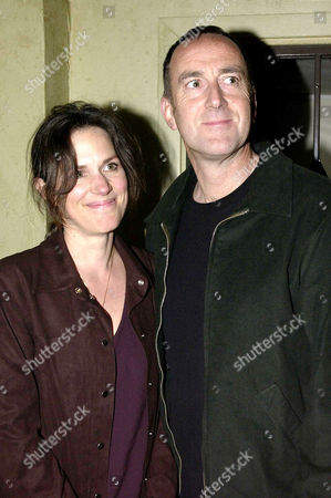 'The Three Sisters' First Night at the Playhouse Theatre Charing Cross and Afterparty at Adam Street Club Angus Deayton with His Partner Lisa Mayer