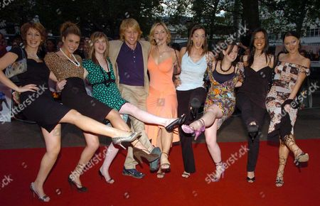 Uk Premiere of 'You Me and Dupree' ' at the Odeon Leicester Square London Owen Wilson with the Maria Tv Girls
