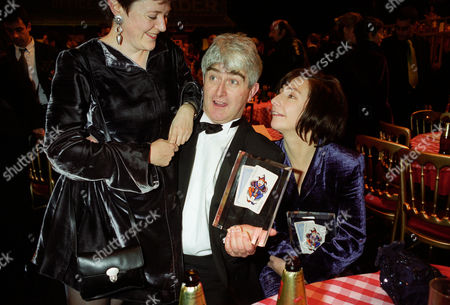 British Comedy Industry Awards Dermot Morgan and Co-star Pauline Mclynn (both Winners of Top Tv Comedy Actor and Actress) and Father Ted Won Best Channel 4 Sitcom
