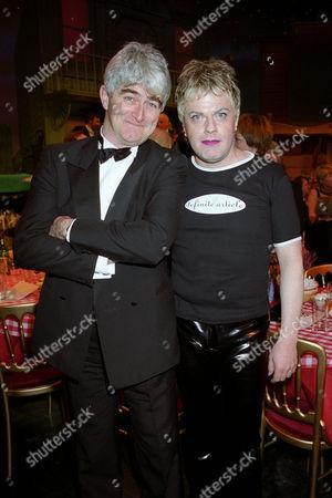 British Comedy Industry Awards Dermot Morgan (winner of Top Tv Comedy Actor ) and Eddie Izzard