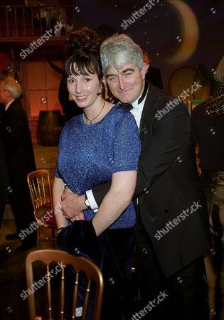 British Comedy Industry Awards Dermot Morgan (winner of Top Tv Comedy Actor ) with His Partner Fiona