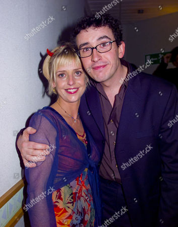 British Comedy Awards at London Tv Studios Emma Chambers (winner Best Comedy Actress) and Steve Coogan (winner of 3 Awards)