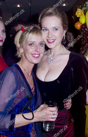 British Comedy Awards at London Tv Studios Emma Chambers (winner Best Comedy Actress) and Natasha Little