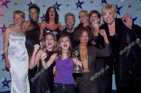 National Television Awards at the Royal Albert Hall Best Serial Drama - Coronation Street Cast - Sally Whittaker Jennifer James Suranne Jones Maggie Jones Denise Welch Nikki Sanderson Elizabeth Dawn Naomi Russell and Tina O'brien