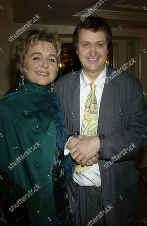2002 Evening Standard Theatre Awards at the Savoy Hotel Sinead Cusack and Adrian Noble