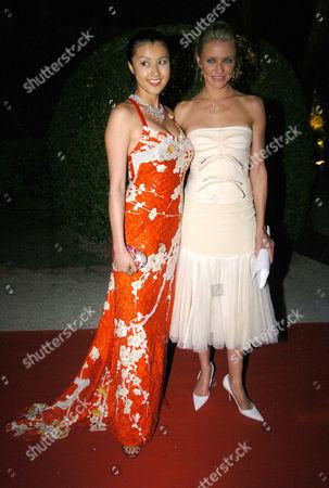 2004 Cannes Film Festival - Afterparty at La Chateau De La Napoule Norika Fujiwara and Cameron Diaz