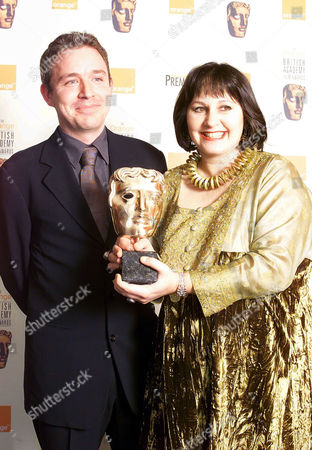 53rd British Academy Film Awards at the Odeon Leicester Square and After Party at Cafe Royal Damien O'donnell and Leslee Udwin with Their Award For Alexander Korda Award For 'Outstanding British Film of the Year' ' East is East;