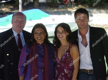 61st Venice Film Festival 2004 On the Lido at Venice Arrivals For Vanity Fair at the Casino For the Press Conference Julian Fellows; Mira Nair; Reese Witherspoon; James Purefoy