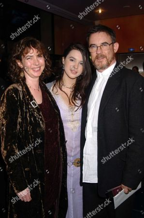 The Uk Gala Celebrity Premiere of Being Julia at the the Apollo Cinema Lower Regent Street London Film Director Charles Sturridge with His Wife Phoebe Nicholls and Their Daughter Their Son Tom Sturridge is in the Film