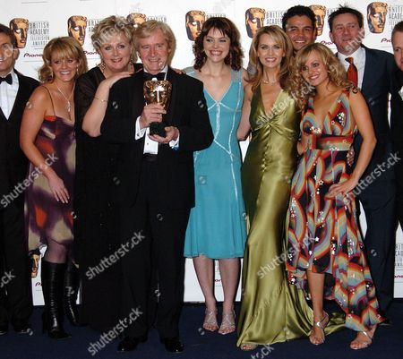 The Pioneer British Academy Television Awards at the Theatre Royal Drury Lane Winners of Best Continuing Drama - Coronation Street Bill Roach with Amongst Others Tina O'brien Sally Lindsay Katie Ford Deborah Stevenson