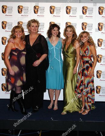 The Pioneer British Academy Television Awards at the Theatre Royal Drury Lane Winners of Best Continuing Drama - Coronation Street Sally Lindsay ? Katie Ford Deborah Stevenson and Tina O'brien