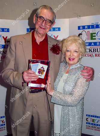 British Comedy Awards at London Tv Studios Wggb Writer of the Year Award: Denis Norden and Frank Muir with June Whitfield
