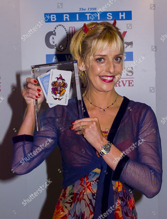British Comedy Awards at London Tv Studios Emma Chambers (winner Best Comedy Actress)