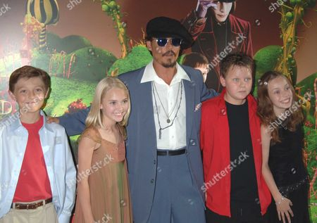 The Premiere of Charlie & the Chocolate Factory at the Odeon Leicester Square London