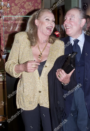 Stock Image of Chopard and De Grisogono Party at the Palace Hotel Gstaad Ursula Andress and Prince Carlo Giovanelli