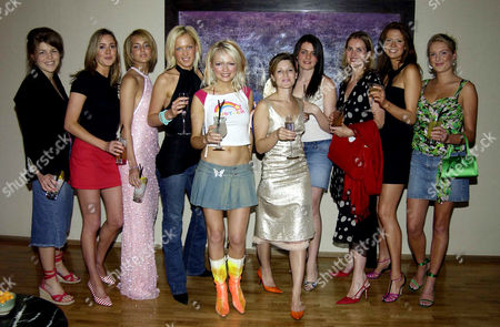 Cocktail Party at the Mju Restuarant at the Millennium Hotel Sloane Street Francesca Rodgers Lady Isabella Hervey Emily Crompton Hannah Sandling Rosie Fellner Alice Dean Camilla Ridley Henrietta Dups and Anita Patrickson