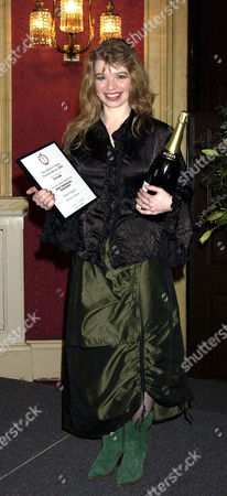 Stock Photo of Critics Circle Theatre Awards 2003 at the Theatre Royal Drury Lane Winner of the Jack Tinker Award For the Most Promising Newcomer Alison Pargeter