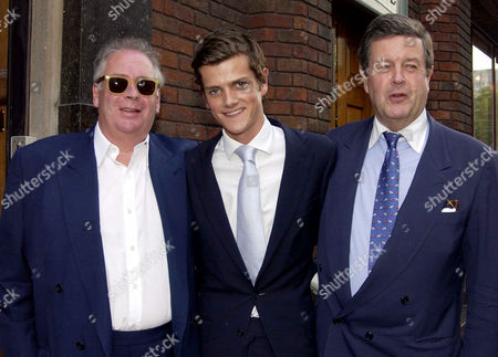Drones Club Private Members Club Opening Party Hanover Square Lord Charles Spencer-churchill with His Son Alexander Spencer-churchill and Lord Alexander Hesketh