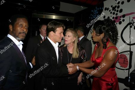 First Night Party For 'Porgy and Bess' at Floridita Wardour Street Clarke Peters Patrick Swayze with His Wife Lisa Niemi and Nicola Hughes